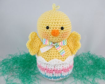 Crochet yellow chick crochet stuffed chick chick plush easter decor crochet easter gift crochet easter chick easter basket goodie amigurumi negle Gallery