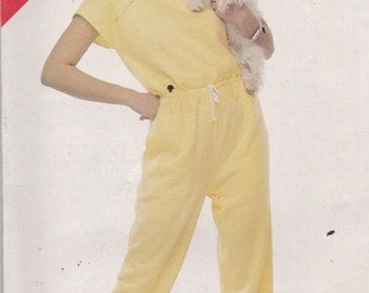 See and Sew 5380 Vintage Pattern Womens Jumpsuit Size 14,16,18 UNCUT