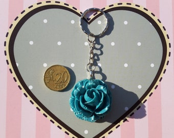 Rose green keychain