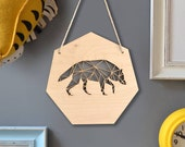 Geometric Wolf Artwork - Geometric Wall Art - Woodland Wolf - Woodland Nursery Decor - Gift for Kids - Modern Home Decor - Wild Wolf Design