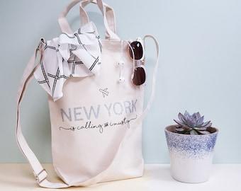 Personalised 'Destination Is Calling' Travel Bag Set - Mother's Day Gift - Tote Bag - Travel Bag - Summer Purse - Beach Bag - Mum Gym Bag