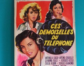Film Movie Poster Afffiche, original from the 50s, handpainted, vintage