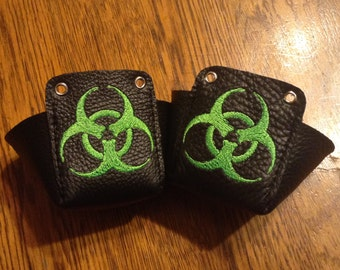 Leather Biohazard Roller Derby Toe Guards