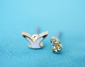 Seagull+Anchor earring studs