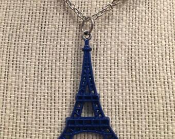"20"" Blue Eiffel Tower Necklace"