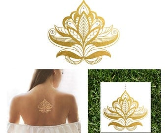 Gold and Silver Henna Metallic Temporary Tattoo