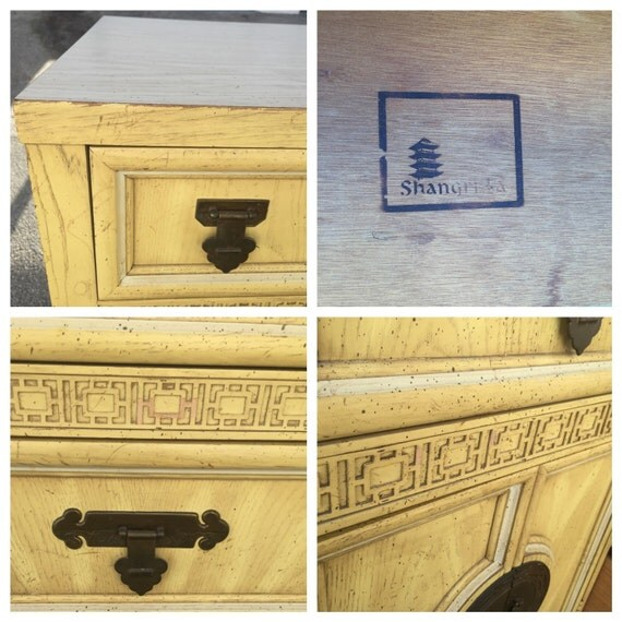 Reserved Vintage Dixie Shangri La 9 Drawer Dresser