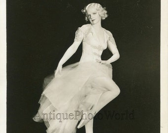 Beautiful woman ballerina ballet dancer antique art photo