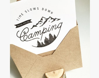 Time Slows Down When You're Camping Everyday Card Set