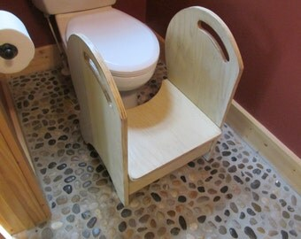Deluxe Wood Potty Step Stool Almond (antique glazed)
