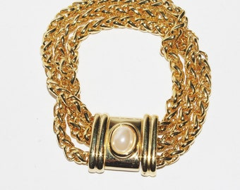 Joan Rivers Bracelet - Gold Tone Chain Bracelet - S1532
