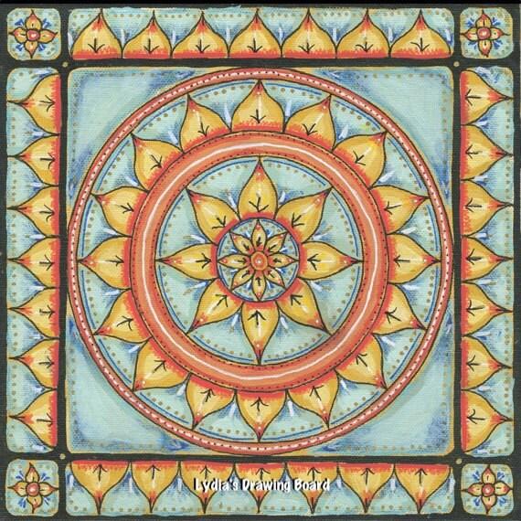Mandala Art, Mandala Wall Art, Mandala, Original Painting, Meditation Art, Yoga Studio Decor, Ornate, Mixed Media Art, Sacred Geometry Art