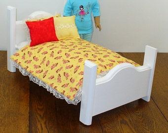 "18 inch Doll Bedding / American Made Doll Bedding / 18"" Doll Bedding"