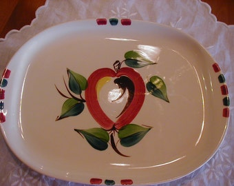 Wonderful Purinton Platter with lovely Apple design measures 12 1/2 by 9 1/2 GREAT FIND!!