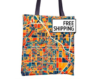 Santa Ana Map Tote Bag - California Map Tote Bag 15x15