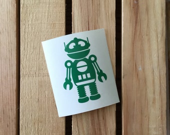 Boy Robot Vinyl Decal Sticker