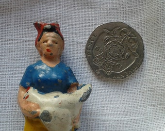 Miniature  Farmers Wife Vintage Britains Toy