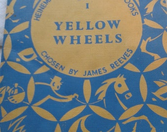 Yellow Wheels Vintage Poetry Book  for Children