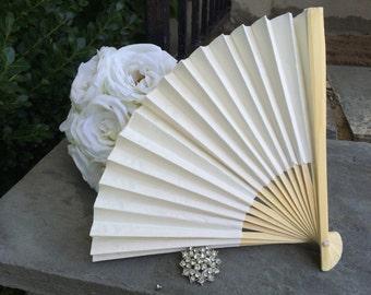 white paper fan etsy