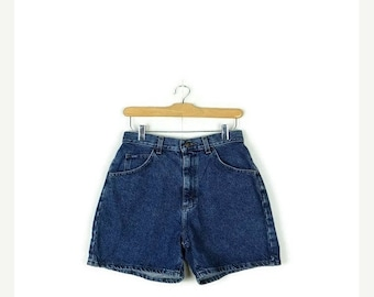 SUMMER SALE Free Shipping !!Vintage Lee  Blue Denim Shorts from 90's/W26*