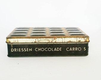 CARRO ROTTERDAM TIN -                  dutch black gold storage tin chocolat driessen rotterdam -                 a true vintage girl find