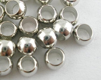 Silver crimp beads, 4 mm, copper, VE to choose: 50 or 100 pieces