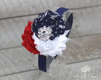 Independence Day Headband - 4th of July Headband - Red White and Blue Headband - July 4th - Baby Headband - Adult Headband - America -Fourth
