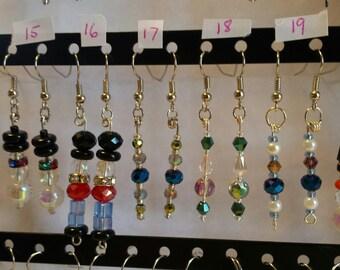 Earrings ~ Various, pick 1 pair