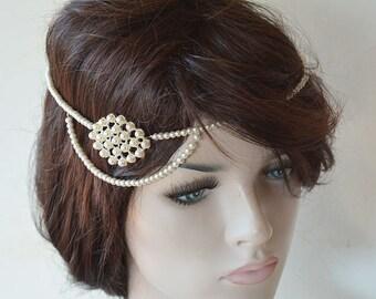 Bridal Headbands, Wedding Hair Accessories, Pearl Bridal Headpiece, Wedding Headband, wedding Head Piece