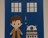 Dr. Who Birthday Invitation Tardis Invitation  Dalek Invitation