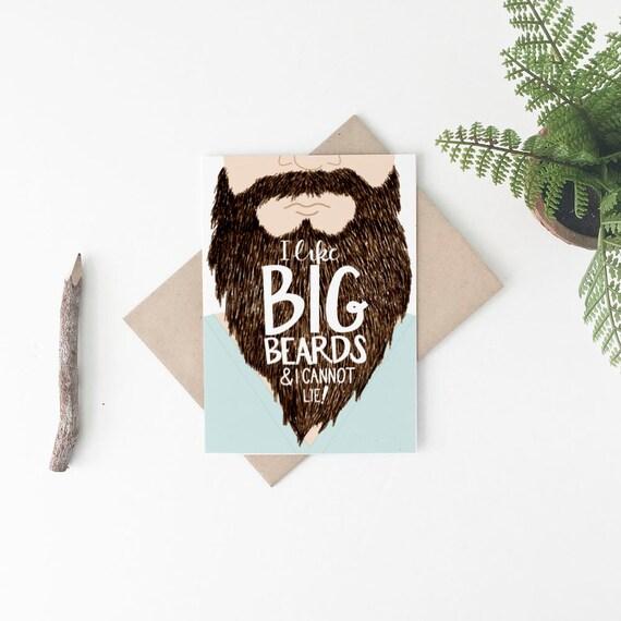 Beard Card Funny Beard Card Funny Valentines Day Card Funny – Birthday on Valentine Day Card