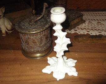 SALE : Vintage Brass Thistle candlestick