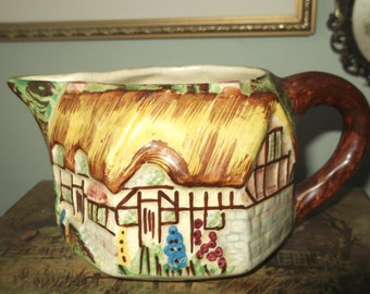 Art Deco Hand Painted Cottage Milk Jug