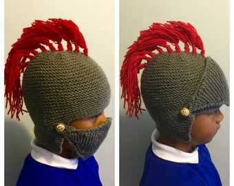 Knitted knight hat