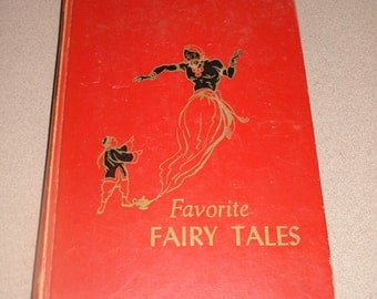 "Fairy Tales Vintage 1953 Childrens Hour # 2 ""Favorite Fairy Tales"" BY M BARROW-1953"