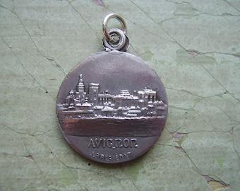 A Vintage Religious Medallion - French Catholic - Avignon - Scapular Medal.
