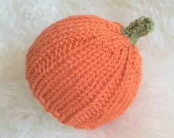 Baby pumpkin beanie hat true newborn jack o lantern - boy girl newborn photography prop halloween fancy dress outfit - orange harvest
