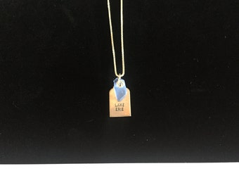 Light Blue Lake Erie necklace