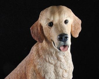 Yellow labrador dog figurine