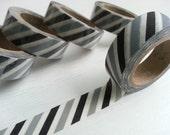 Black Strip Washi / Masking Tape - 10M