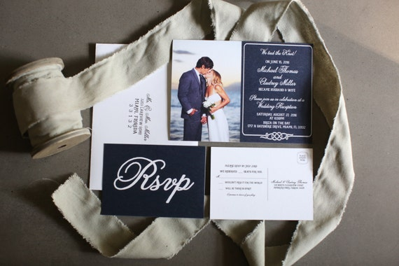 The Knot Addressing Wedding Invitations: Wedding Reception Invitation We Tied The Knot Nautical