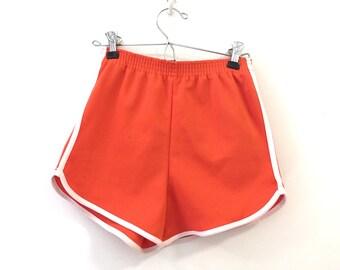 1970's Orange Athletic Shorts Sz XS