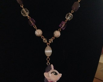 my little pony Rarity Full Beaded Chain Necklace