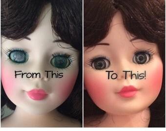Doll Repair, Doll Eye Replacement, Repair Kit, 13 mm, Sleep Eyes, Doll Restoration, Doll Making, Fix Doll, Revlon, Kelly, Twinkie