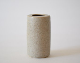 PALSHUS Denmark - cylindrical vase - beige - PL-S 404 - Danish mid century pottery