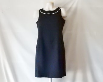 20% Sale 4P Little Black Dress - LBD -  4 6 6P Petite 4 PS Small  - Petite Sophisticate - Cotton - Versatile - Wear to Work or Dinner 20 Off