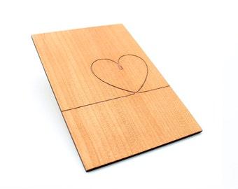 Wooden Valentine Card - Luft Balloon