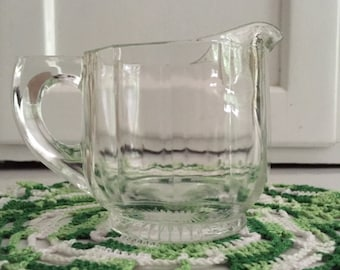 Vintage Clear Glass Creamer