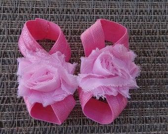 barefoot sandals, HOT PINK barefoot sandals, newborn barefoot sandals, baby girl barefoot sandals, toddler barefoot sandals