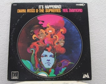 "Diana Ross & The Supremes - ""Neil Diamond - It's Happening"" vinyl record (NT)"
